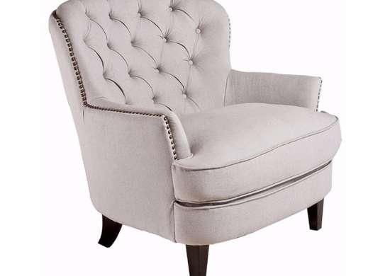 White Linen Armchair