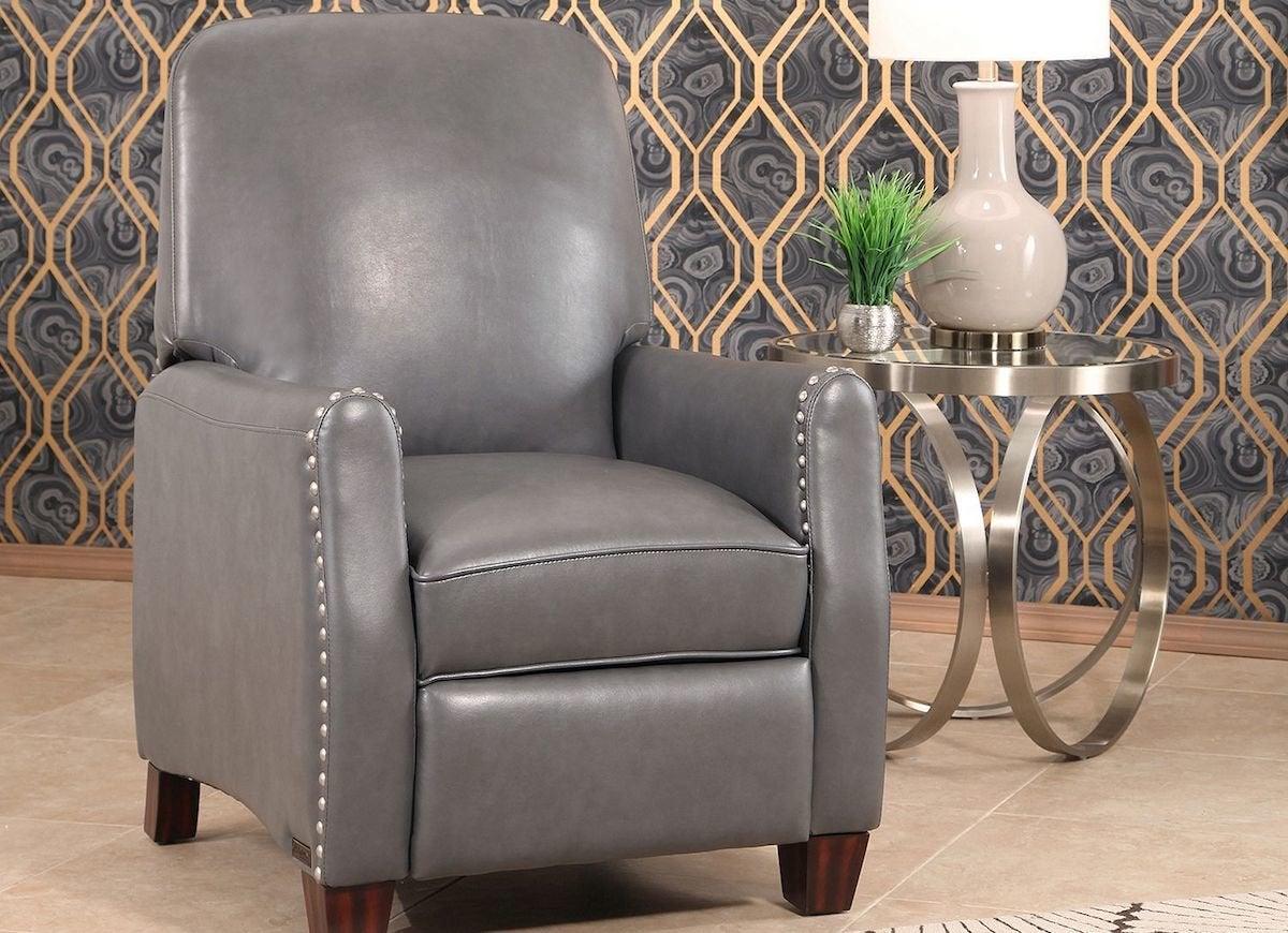 Grey recliner