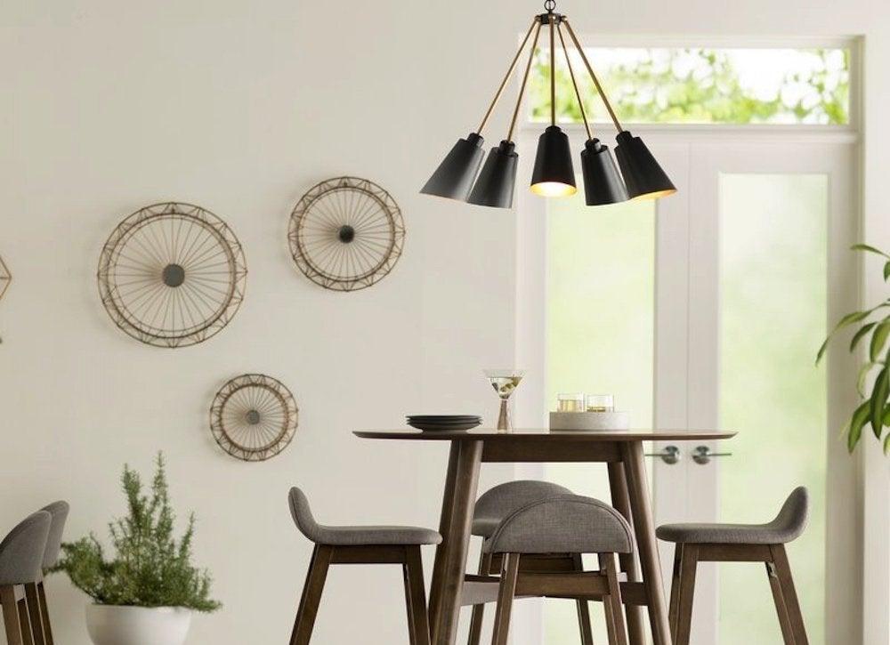 Midcentury modern chandelier