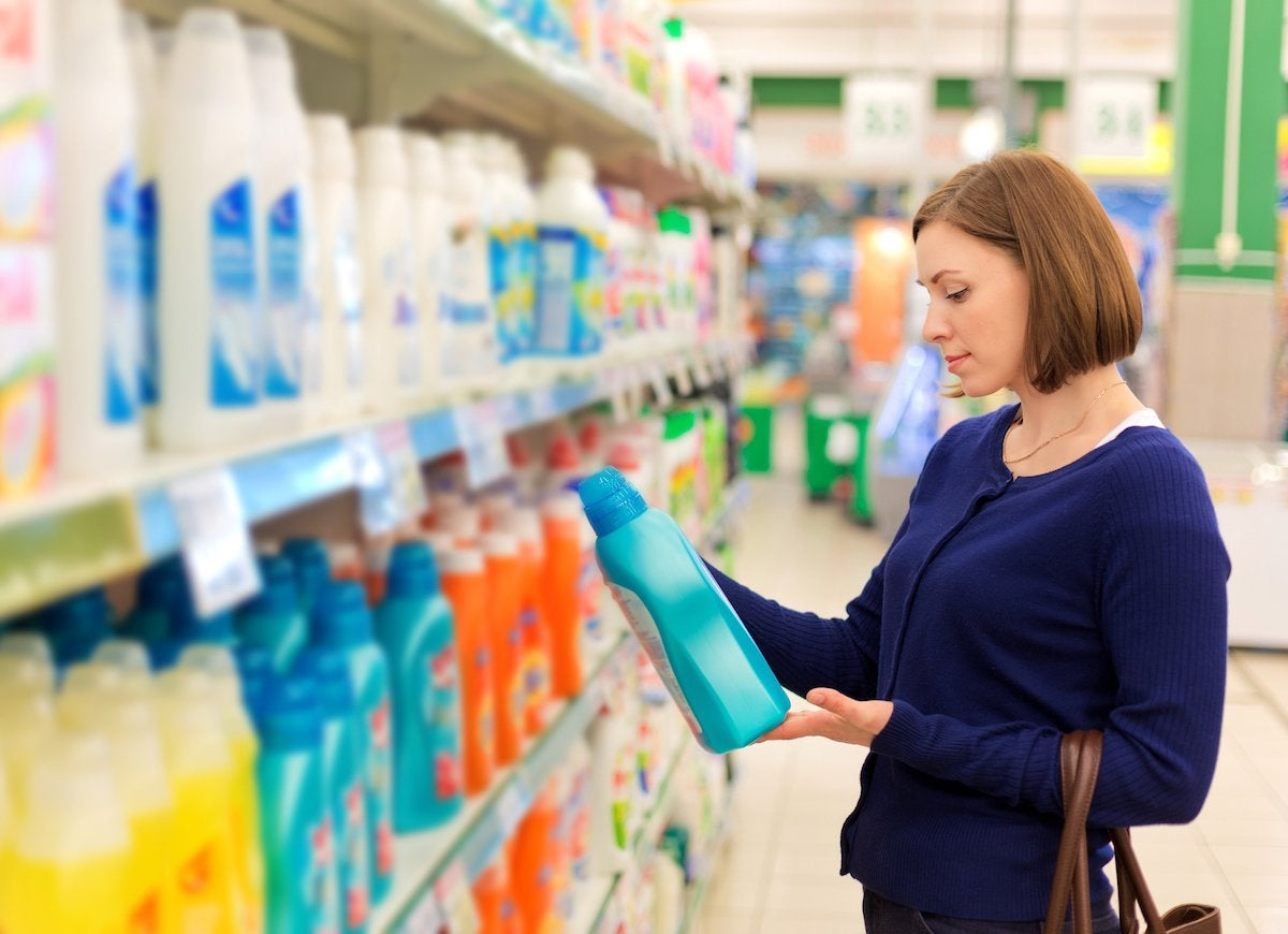 Choosing wrong laundry detergent