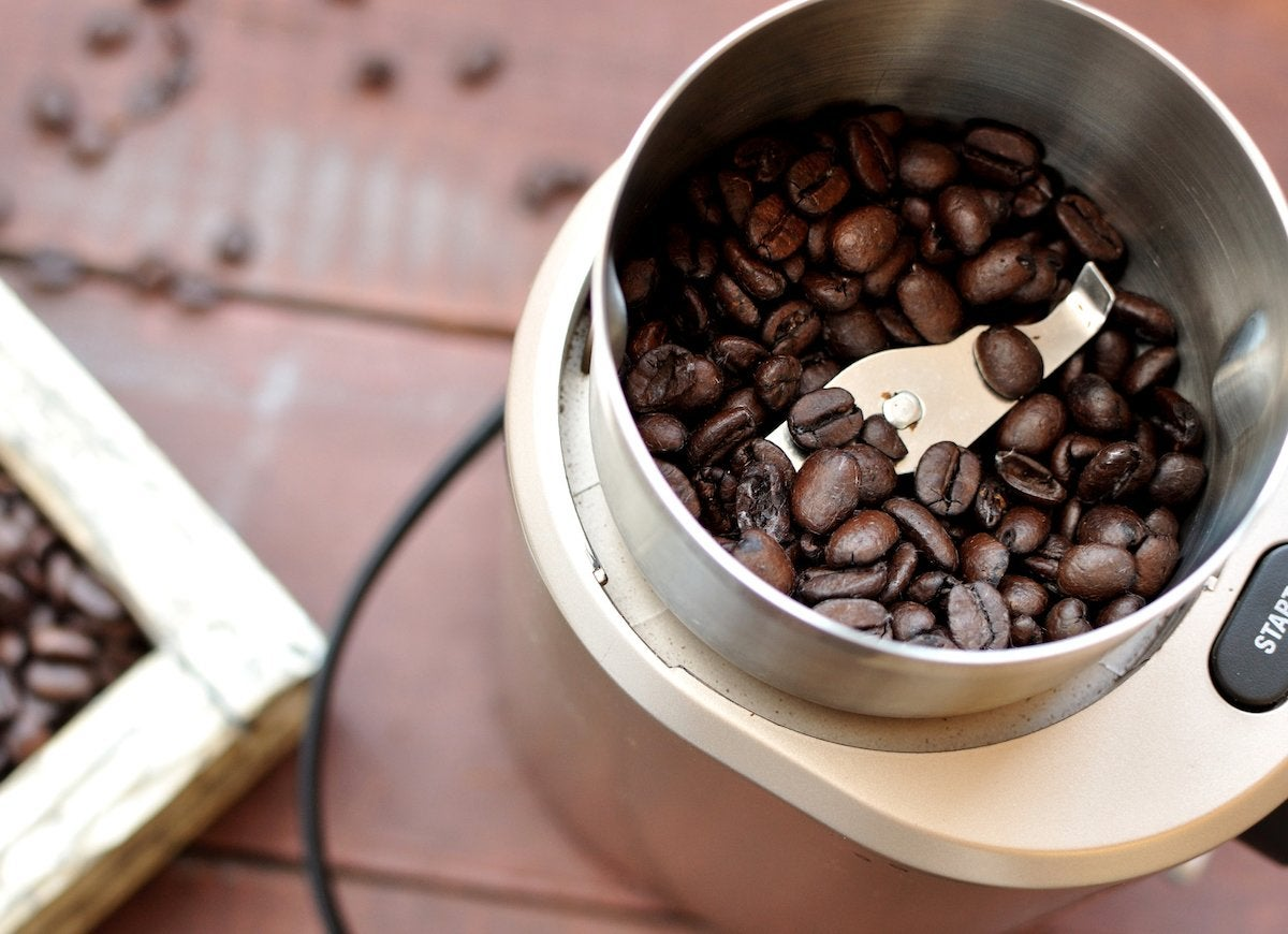 Coffee grinder rice use