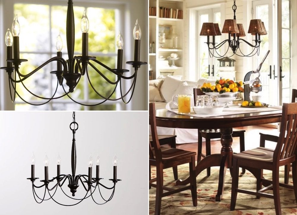 Cheap pottery barn chandelier 2