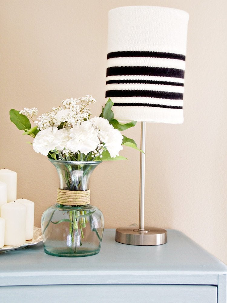 Knit sweater lampshade 1