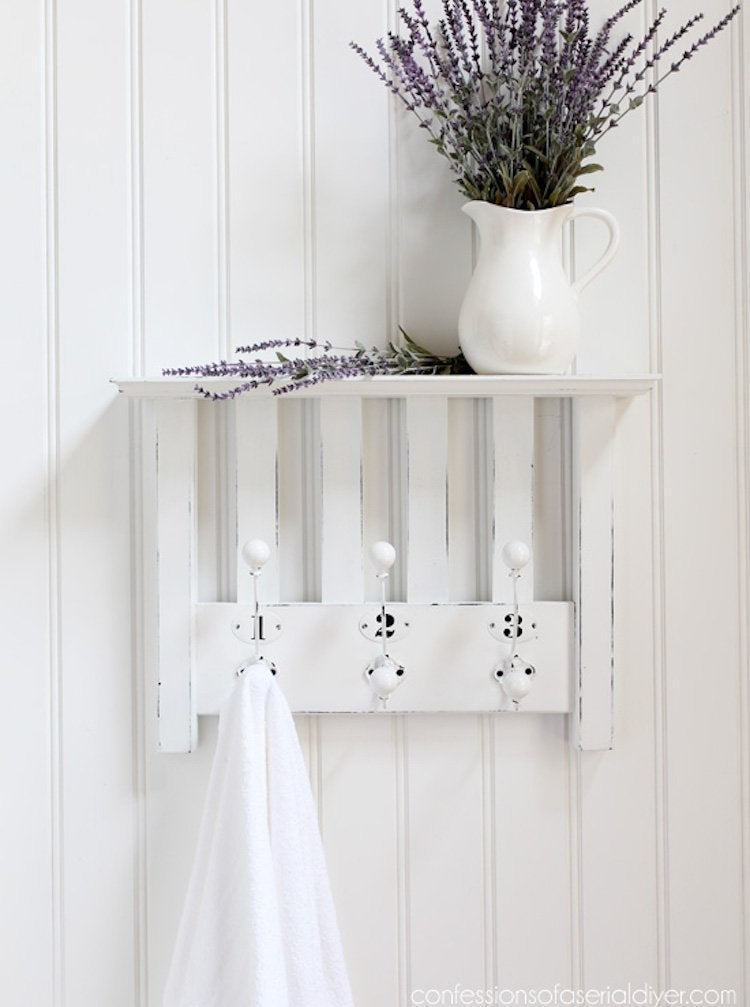 Repurposed chair shelf 5
