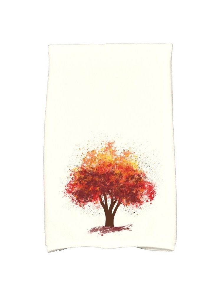 Autumn tree kitchen towel