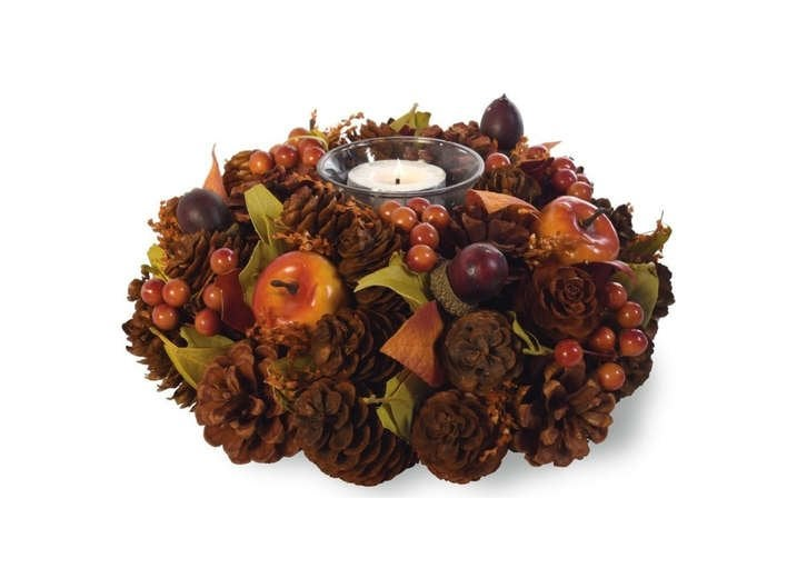 Pine Cone Candle Wreath