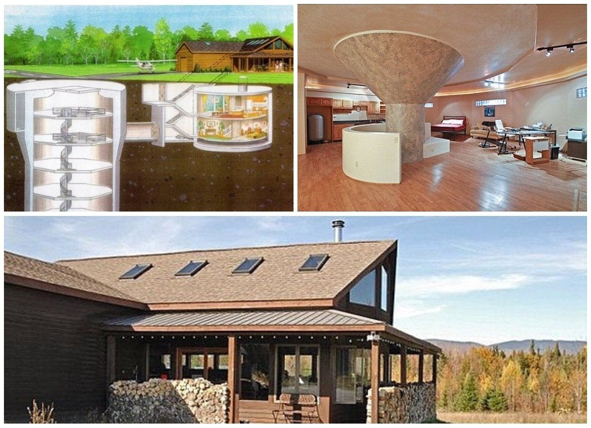 Luxury missile silo house