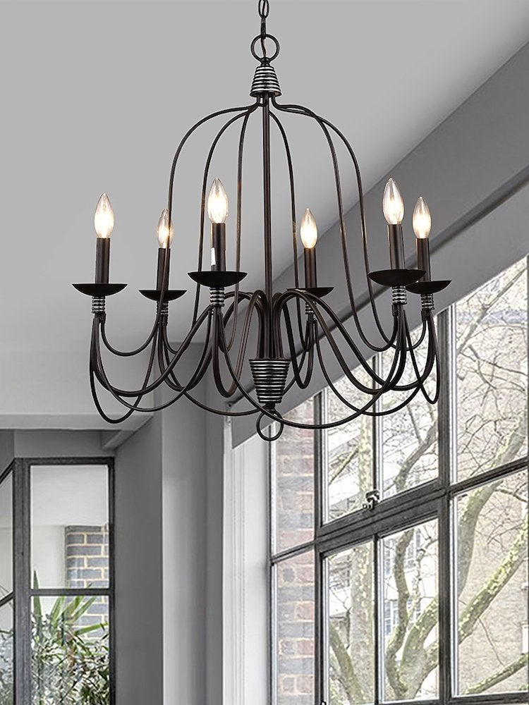 Claxy industrial vintage chandelier