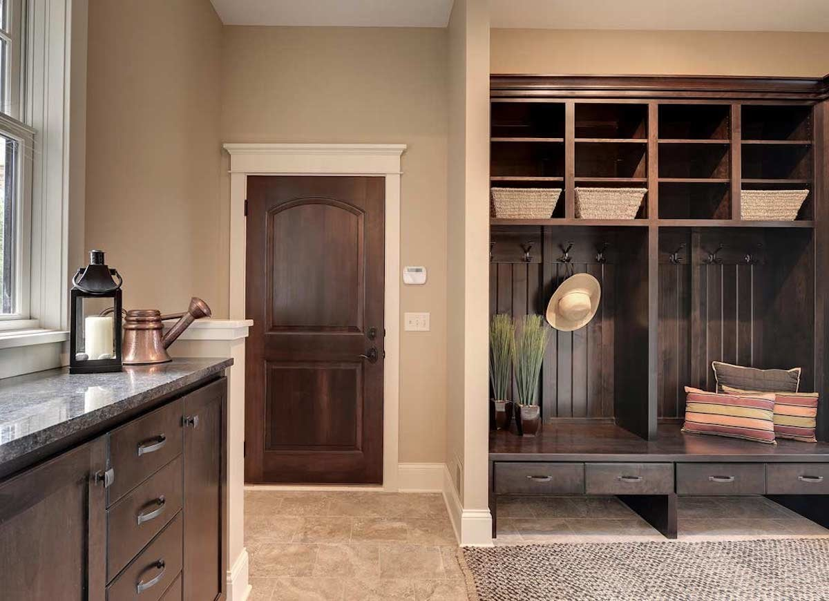 Built In Mudroom Storage