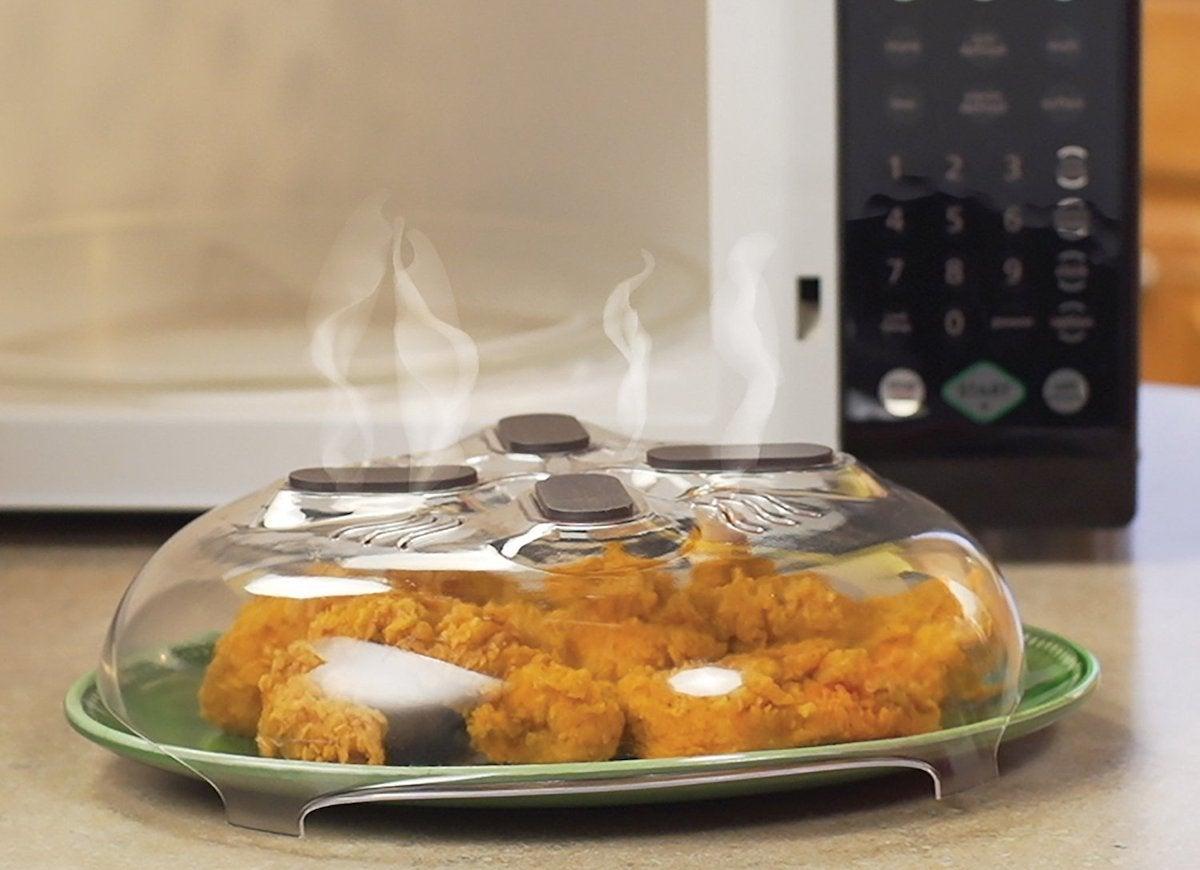 Microwave splatter lid