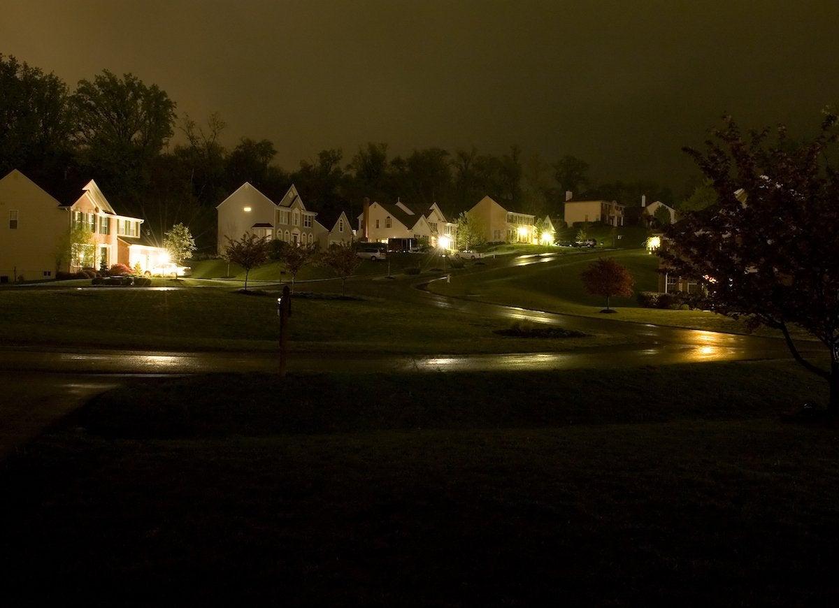 Neighborhood power outage
