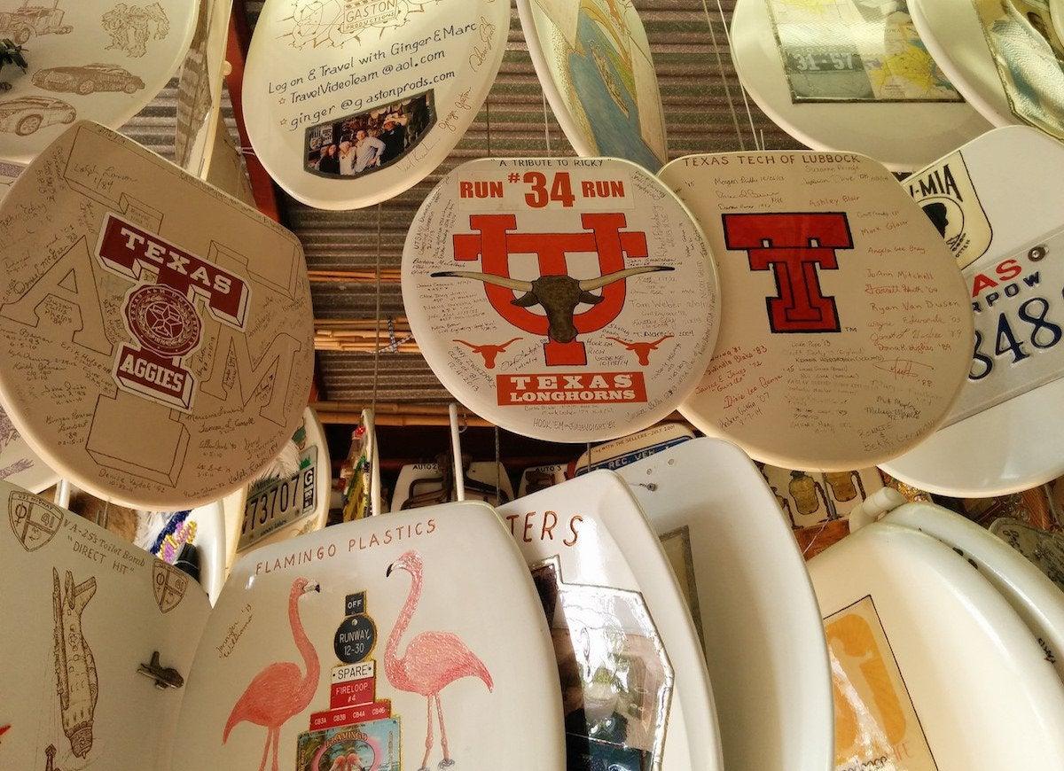 Toilet seat museum