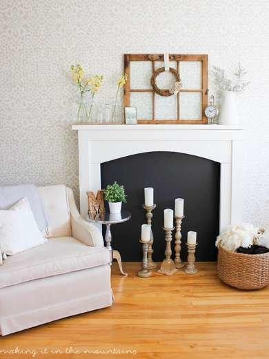 DIY Candle Fireplace