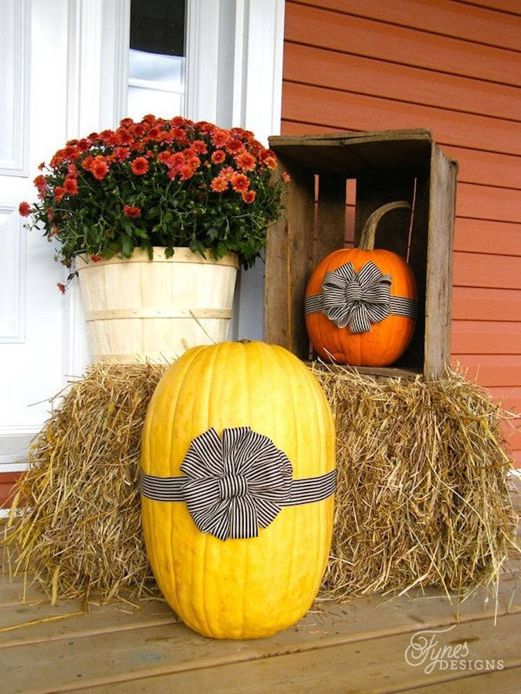 Ribbon pumpkins fynesdesigns