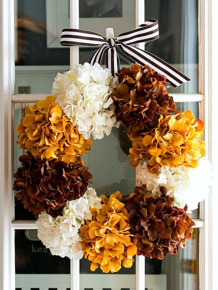 Hydrangea wreath itallstartedwithpaint