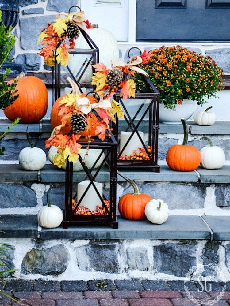 Fall Lanterns Diy Outdoor Fall Decor 13 Easy Projects