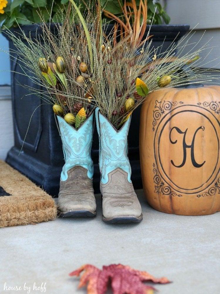 Cowboy boots planter housebyhoff