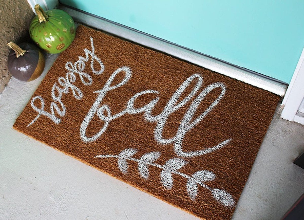 Fall doormat diy withinthegrove