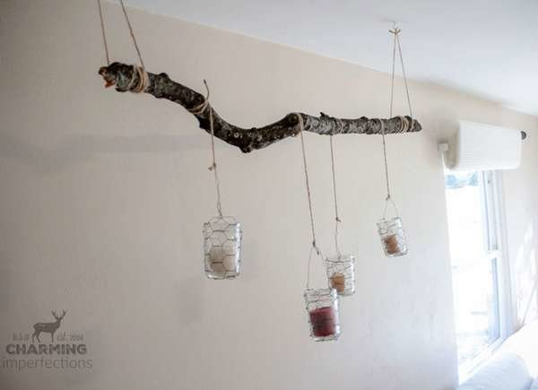 DIY Rustic Candle Holder