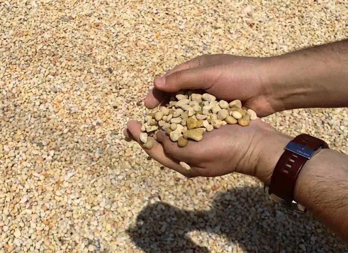 Jersey shore gravel