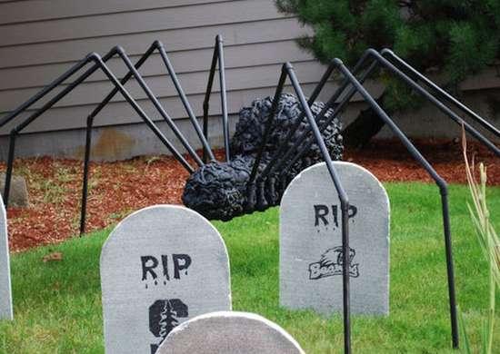 Halloween Lawn Spider