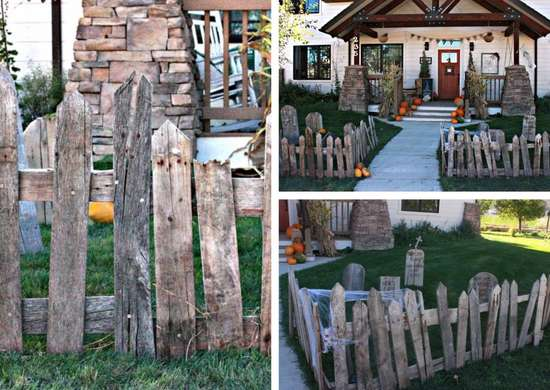 Halloween Graveyard from Pallet Wood
