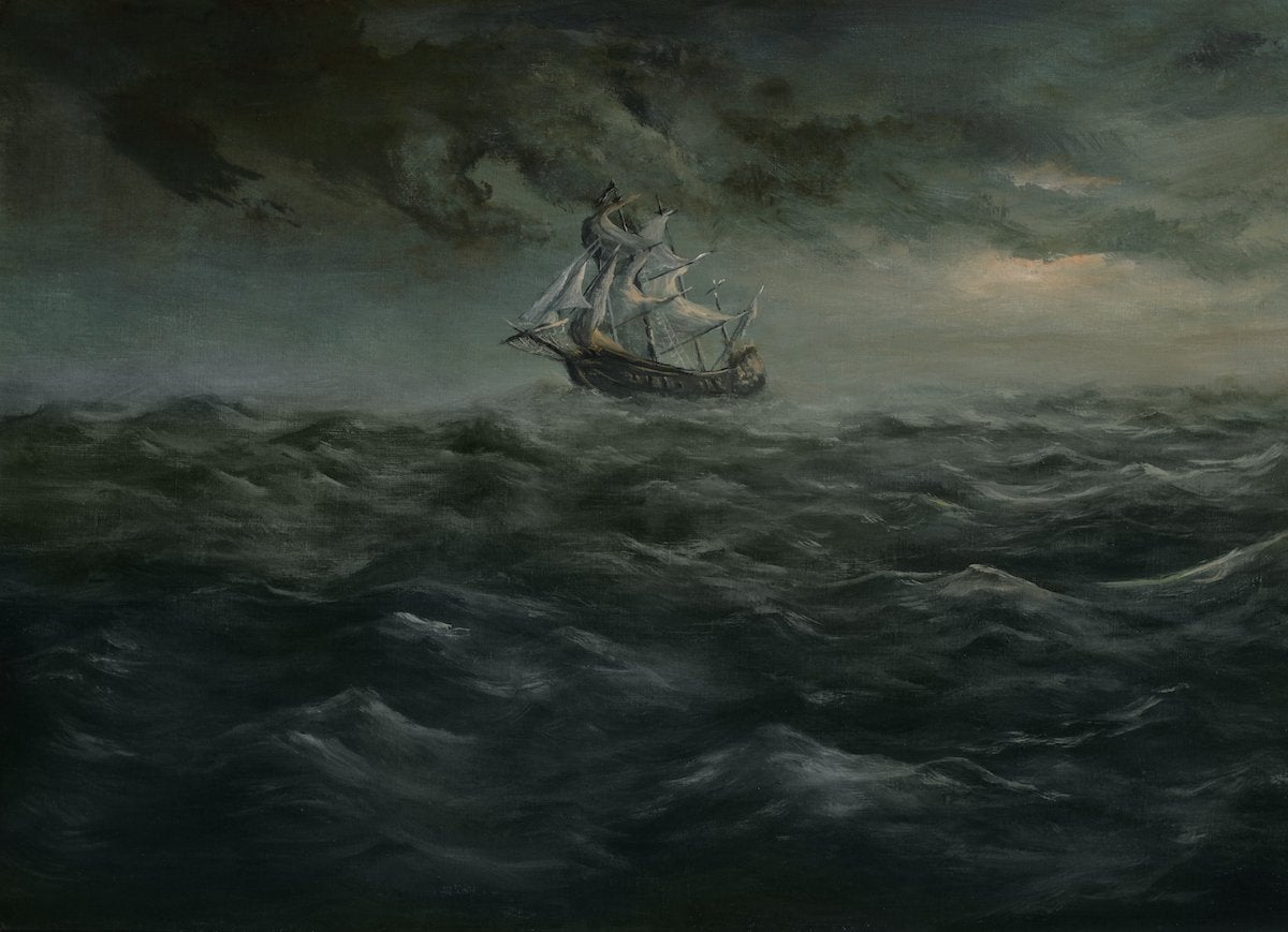 Shipwreck painting