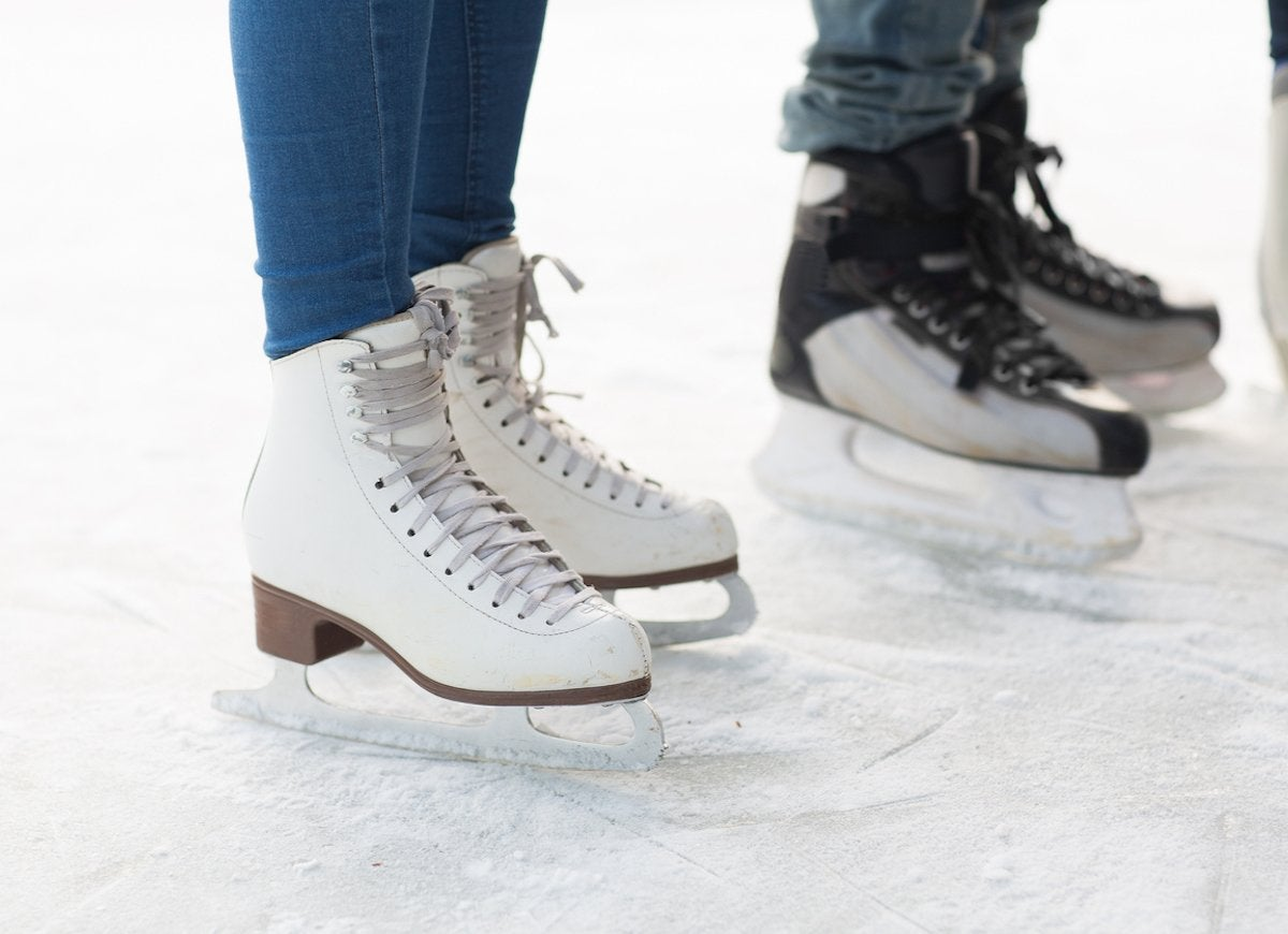 Close up of legs in skates on skating rink 497681602 1258x839