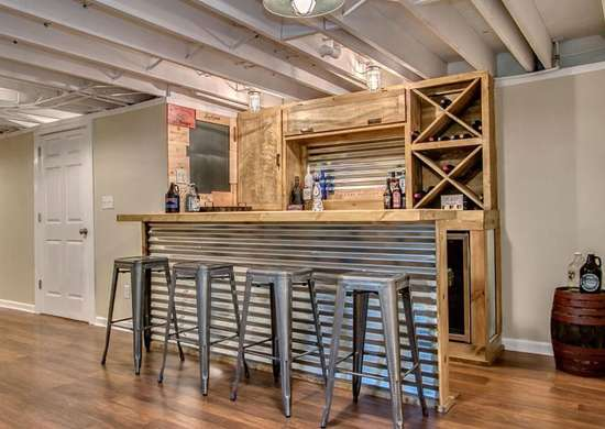 Industrial Basement Bar