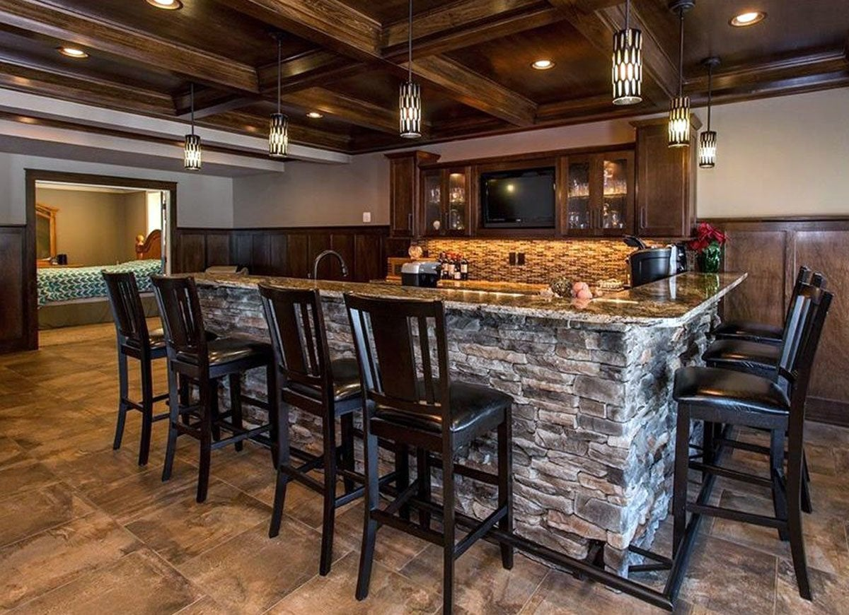 12 basement bars we love bob vila. Black Bedroom Furniture Sets. Home Design Ideas