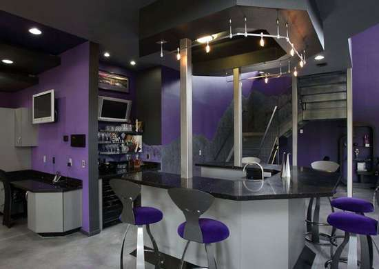 Futuristic Basement Bar