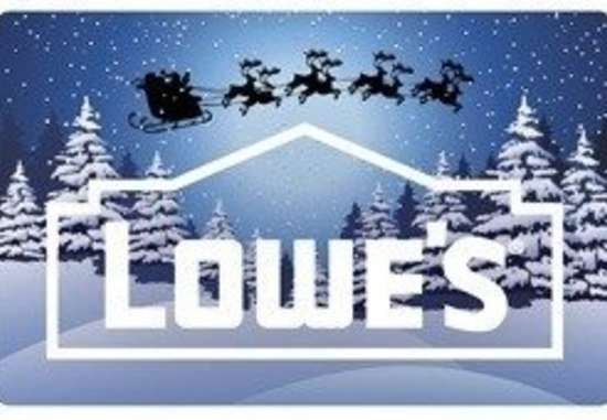 Lowes holiday gift card