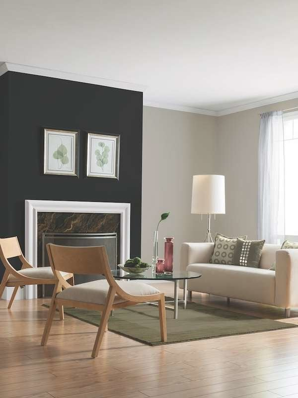 glidden deep onyx on accent wall