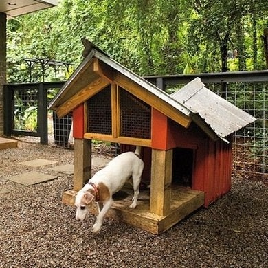Doghouse with deck x