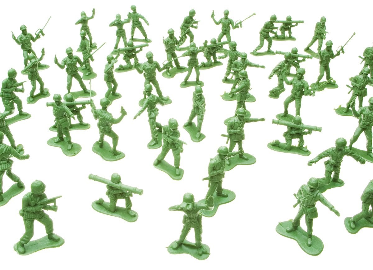 Army men toy collection