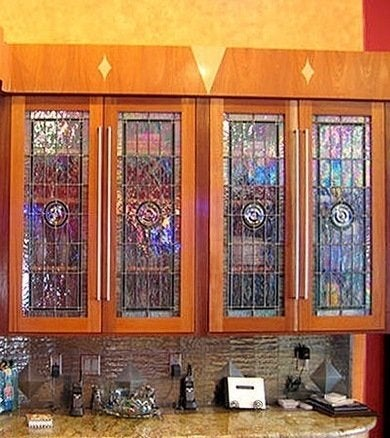 10 stained glass windows we love bob vila for Stained glass kitchen windows