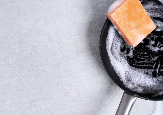 Soak dirty pots and pans