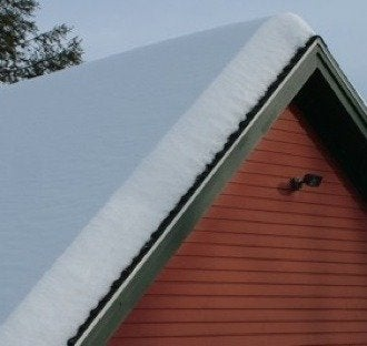 Roof with even snow rev