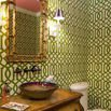 Green Wallpaper Bathroom
