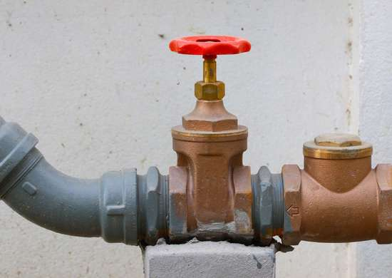 Where Are Gas Valve and Water Valve