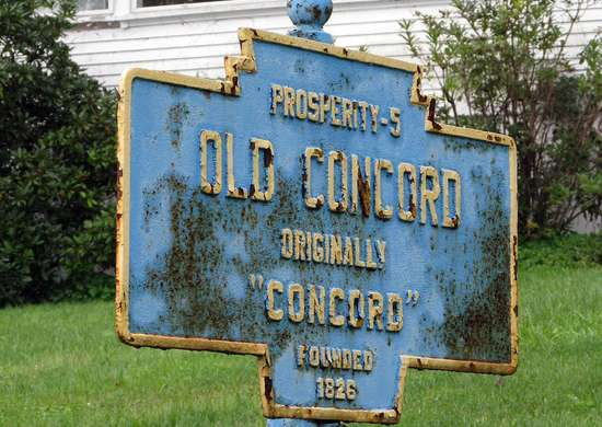 Motto of Old Concord, Pennsylvania
