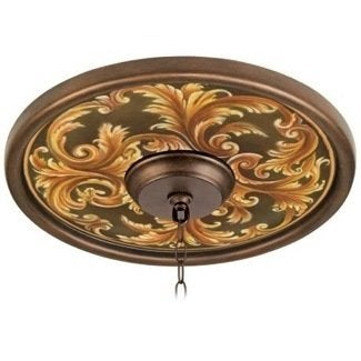 Lampplus acanthus regal bronze ceiling medallion