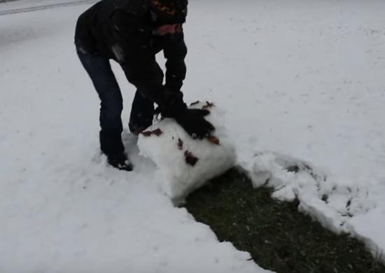 Fun Way to Remove Snow