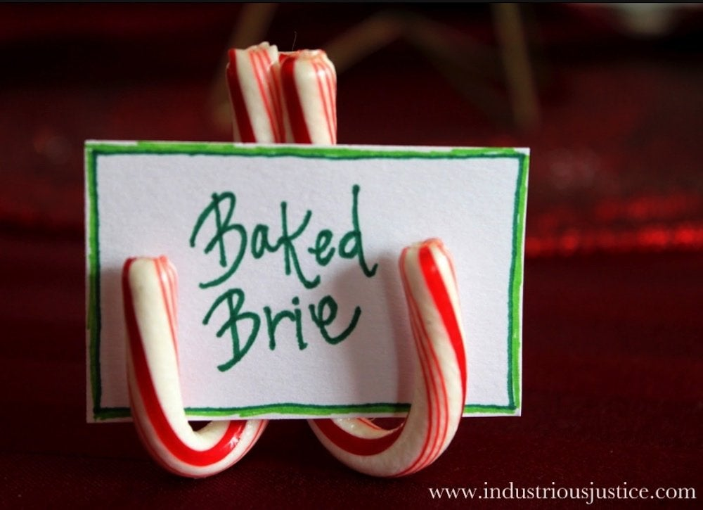 Diy christmas place cards 3
