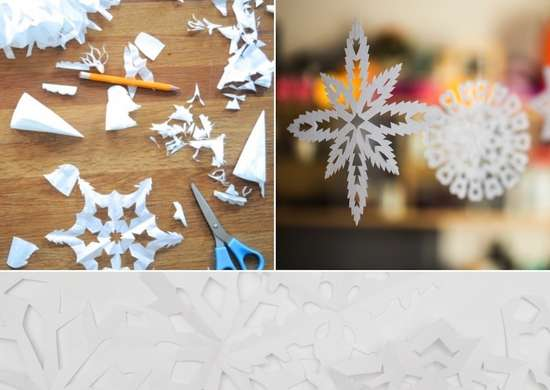 Diy paper snow flakes