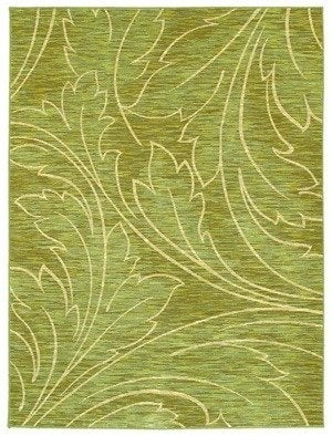 Shaw mirabella acanthus rug green