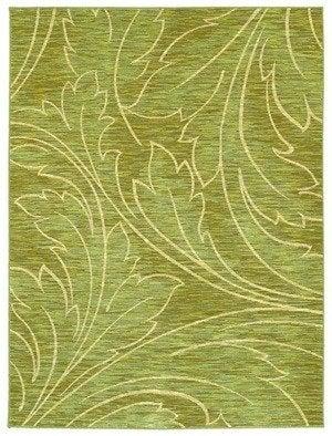 Shaw mirabella acanthus rug green