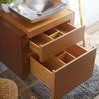 Vanity storage bathroom organization ideas 12 ways to for How much to install a bathroom vanity and sink