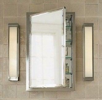 Restorationhardware framed lit medicine cabinet