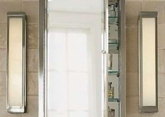 Restorationhardware-framed-lit-medicine-cabinet